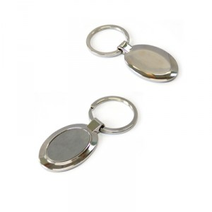 Metal Keychain In Oval Shape