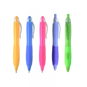 Rubber Grip Shapely Ball Pen(5 colours)