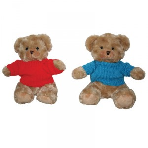 9″ Soft Toy Bear in Knitted Top