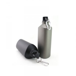 BPA Free Aluminum Twist Bottle With Carabiner 600ML
