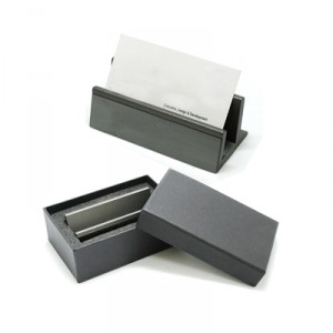 Gun Metal Name Card Holder