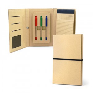 Eco-friendly A5 Notepad With 3 Colours Ball Pen