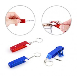HKY1017 Ovetech Mini Tool Kit With Bottle Opener Keychain