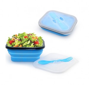 YKI1015 Foldable Lunch Box With Cutlery Set