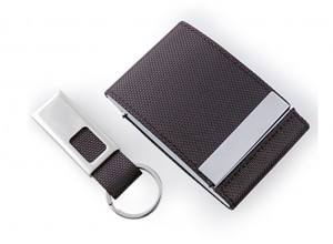 HGS1004 Voyaran Double Side Name Card Holder With Keychain