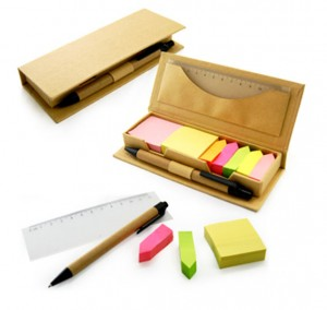 JSS1008 Eco Friendly Post It Pad With Ruler And Pen