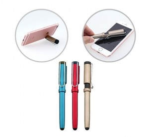 PPB1048 Hedge Plastic Ball Pen With Handphone Stand