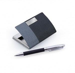 HGS1005 Nelkey Card Case With Metal Pen