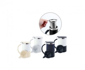 H2312CM Taylor Double Wall Stainless Steel Mug with Tea-Strainer and Coaster Lid