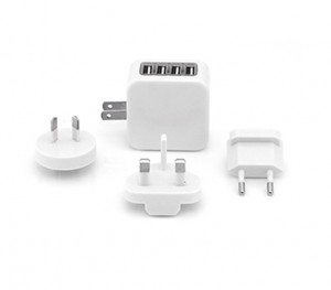 EGT1007 Zimtech Travel Adaptor With 4 USB Hub