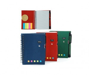 ZNO1016 Notebook With Sticky Notes And Pen